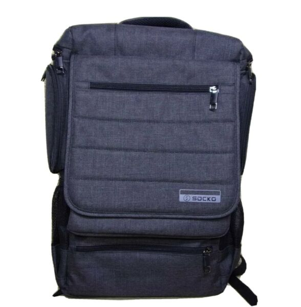 Socko Laptop Backpack Multifunctional Unisex Luggage amp; Travel Bags Knapsack Grey $24.00