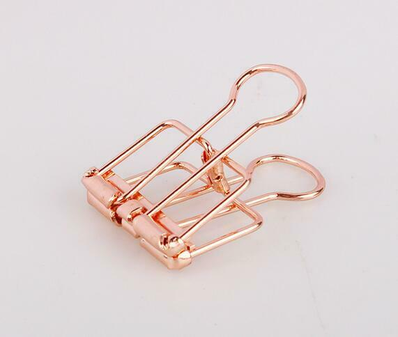 Office supplies Large simple colored metal hollow long tail clip 1 pcs $3.85