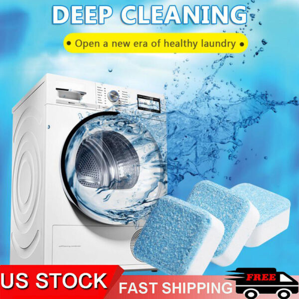 10 20 X Washing Machine Cleaner Washer Deep Solid Cleaning Effervescent Tablets