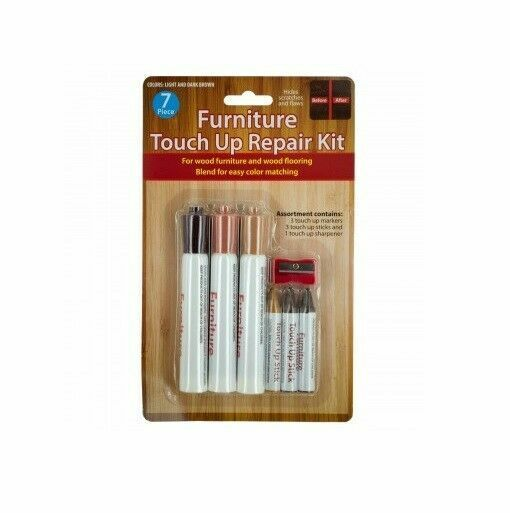 7 Piece Furniture Touch Up Markers Fillers Repair Kit for Wood Furniture Floor $7.59