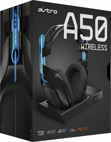 Astro Gaming A50 Wireless Headset & Base Station for PlayStation 4 - BlackBlue