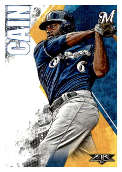 2019 Topps Fire #30 Lorenzo Cain NM MT Brewers