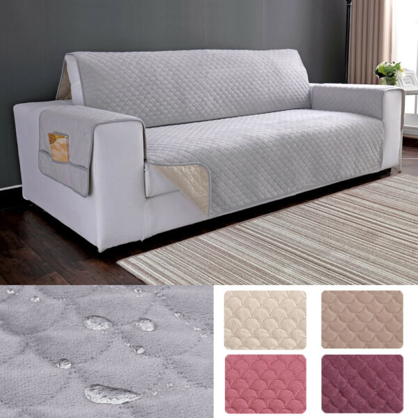 Waterproof Plush Slipcover Sofa Cover Chair Couch Protector Pet Kid Mat Non slip $17.95