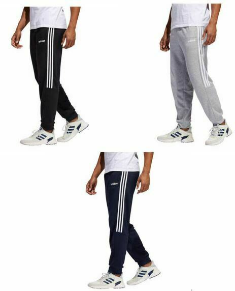 NEW Men's Adidas French Terry 3S Fit Jogger Lounge Pant Warm Cuffed Soft Stretch
