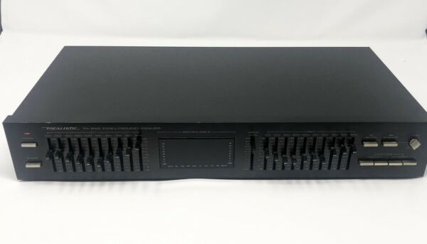 Realistic 31-2020A 10 Band Stereo Frequency Equalizer wLED Display Tested Works