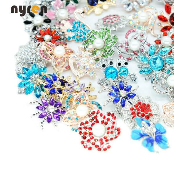 50pcs Mixed Top Rhinestone Snap Charms 18mm Snap Button For 20mm Snap Jewelry 12