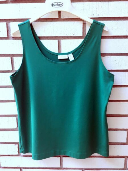 Chico#x27;s Stretchy Tank Green Size 2 or 12 14