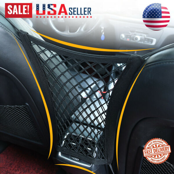 Universal Elastic Mesh Net Bag Car Seat Organizer Luggage Storage Holder Pockets $8.49