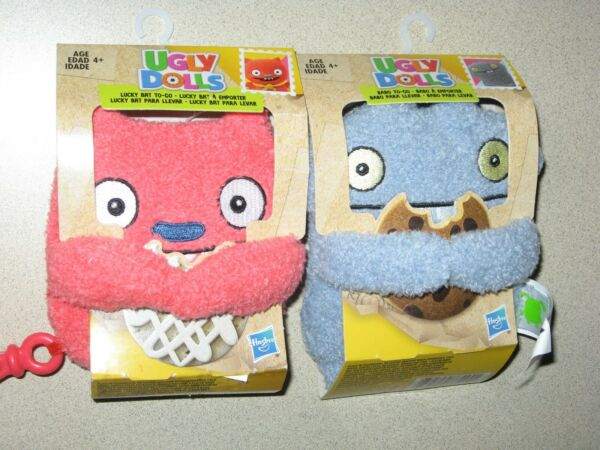 UGLY DOLLS 2 LOT BABO TO-GO AND LUCKY BAT TO-GO HASBRO BOTH BRAND NEW