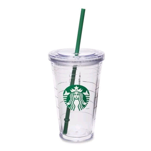 STARBUCKS Grande Insulated Travel Tumbler 16 OZ Double Wall Acrylic Cold Cup