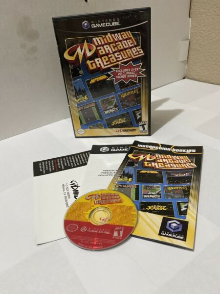 Midway Arcade Treasures (Nintendo GameCube 2003) Complete CIB Tested Works Wii