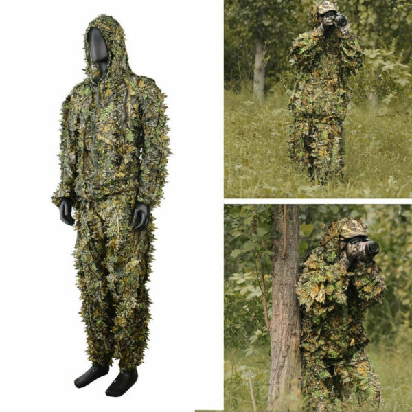 3D Leafy Tactical Camo Camouflage Hunting Clothing Ghillie Suit Woodland Jungle