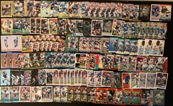 Huge Barry Sanders Football Card Lot  - Detroit Lions 125 Cards Nice Variety!