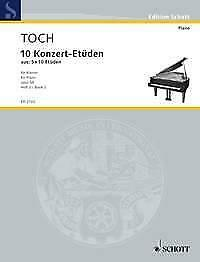 10 Concert Etudes op. 55 Band 2 Studies amp; Exercises Ernst Toch Piano MUSIC BOOK GBP 26.50