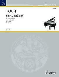 10 Concert Etudes op. 55 Band 1 Studies amp; Exercises Ernst Toch Piano MUSIC BOOK GBP 25.50