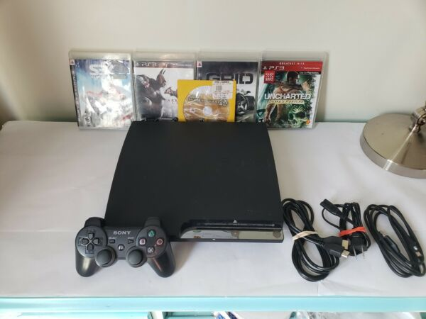 Sony PlayStation 3 PS3 SLIM 160GB Game Console System Tested  CECH-2501A + MORE