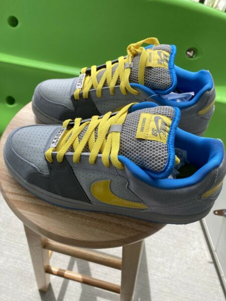 Nike SB Zoom 2009 Team Edition Barcelona Skate Blue Yellow Dunk Mens Size 11