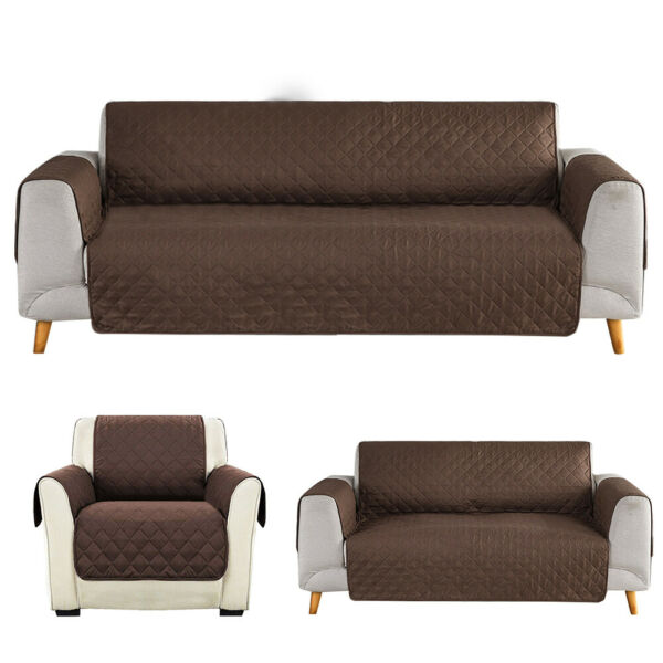 123 Seat Sofa Cover Couch Loveseat Slipcover Pet Dog Mat Furniture Protector $16.89