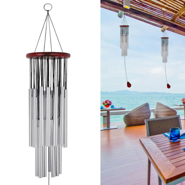 Wind Chimes Outdoor Large Deep Tone 31 Inches Memorial Wind Chimes with 27 Tubes $11.98