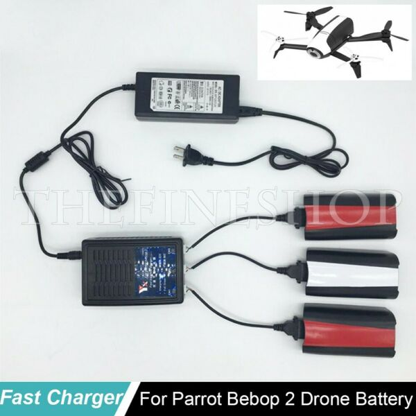 3 in 1 Fast Charging Balance Charger Adapter 12V 7A for Parrot Bebop 2 Drone FPV