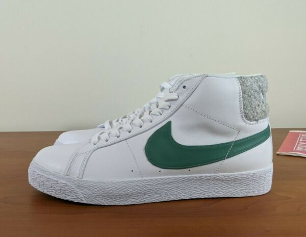 Nike SB Zoom Blazer Mid Premium Shoes Sneakers White Bicoastal CJ6983-100 SZ 10