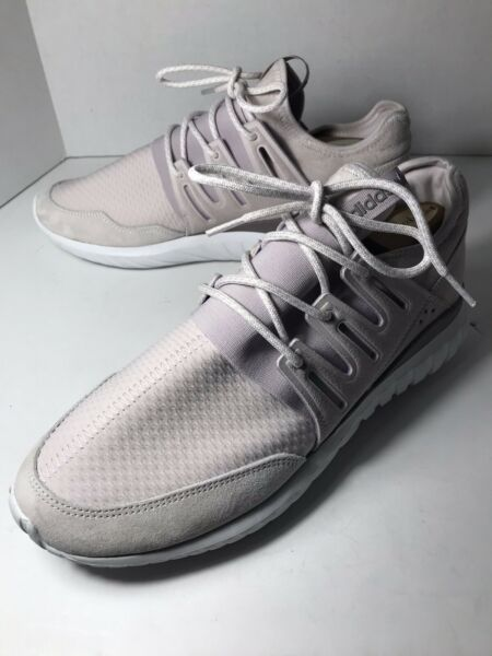 """RARE Adidas Men's Size 10 Shoes """"TUBULAR"""" Ivory Lace Up Low Top 011001 Sneaker"""