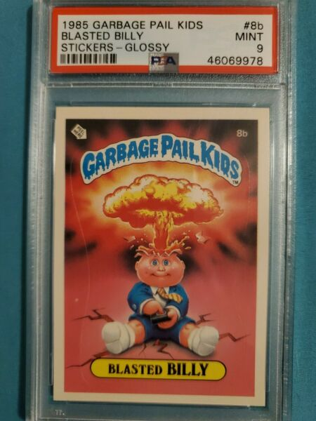 Garbage pail kids series 1 #8b BLASTED BILLY GLOSSY PSA 9 MINT
