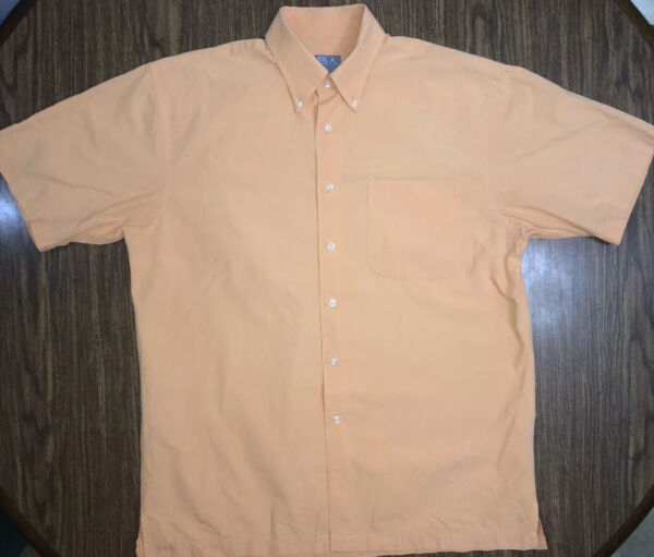 Jos A Bank Stays Cool Button Down Shirt Summer Hawaiian Camp Tommy Men's Sz M $12.50