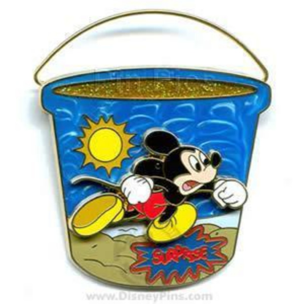 Disney Pin 47840 WDW Surprise 2006 Beach Bucket Mickey Mouse 3D Pail Moves LE