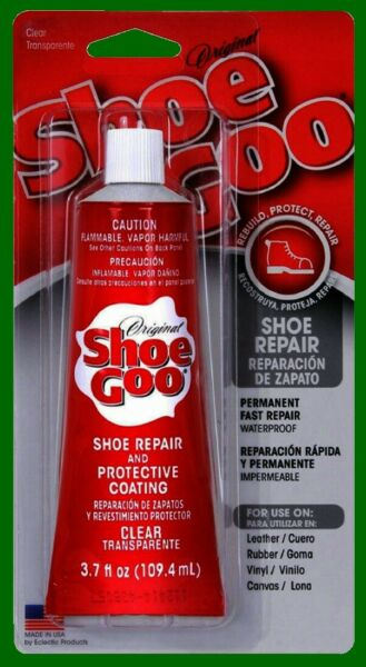 Clear Shoe Goo 3.7 The BEST Sole Repair Super Glue Coat For Fixing Boots Rubber $6.89
