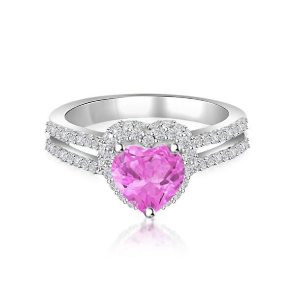 2.00 ctw Baby Pink Diamond Women's Wedding Engagement Ring 10k White Gold Finish