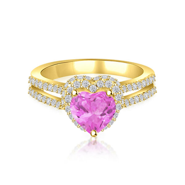 2.00 ct Baby Pink Diamond Solitaire Wedding Engagement Ring 10k Yellow Gold Over