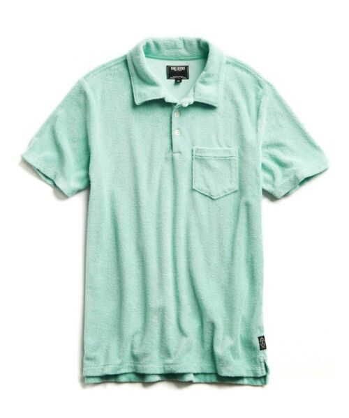 Todd Snyder Minty Green Terry Polo Shirt Men's L
