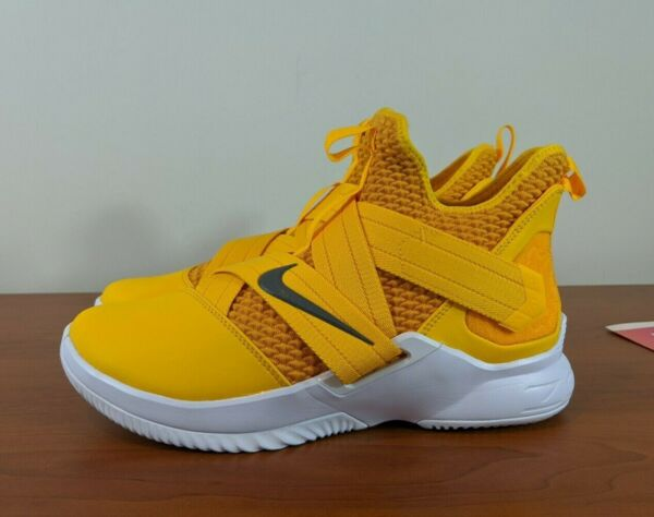 Nike Lebron Soldier XII 12 TB Men's Basketball Sneakers Yellow AT3872-701 Size 9