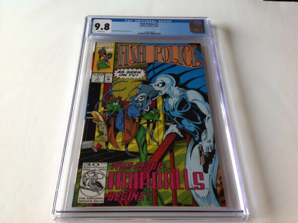 FISH POLICE 1 CGC 9.8 WHITE PAGES AS SEEN ON TV CVR STEVE MONCUSE MARVEL COMICS