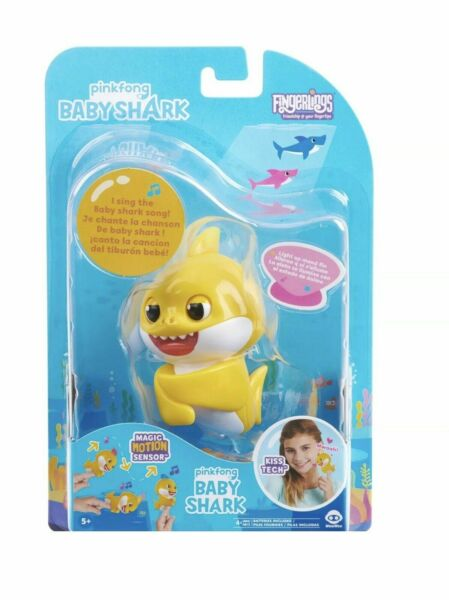 *BABY SHARK* Fingerling Light Up Mood Fin Sings Pinkfong Song Authentic WowWee