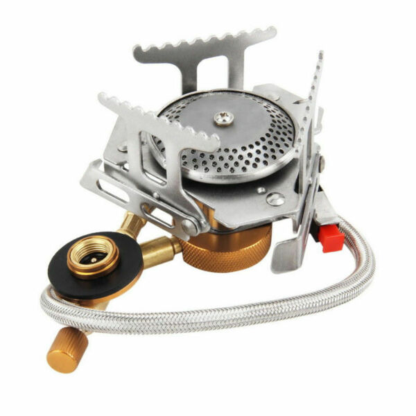 3500W Outdoor Picnic Gas Burner Portable Backpacking Camping Hiking Mini Stove