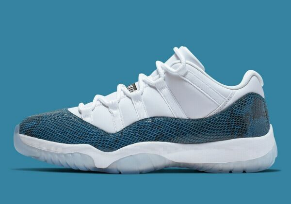 Nike Air Jordan 11 xi Navy Snakeskin Shoes Size 12.5 New With Box Retro Low LE