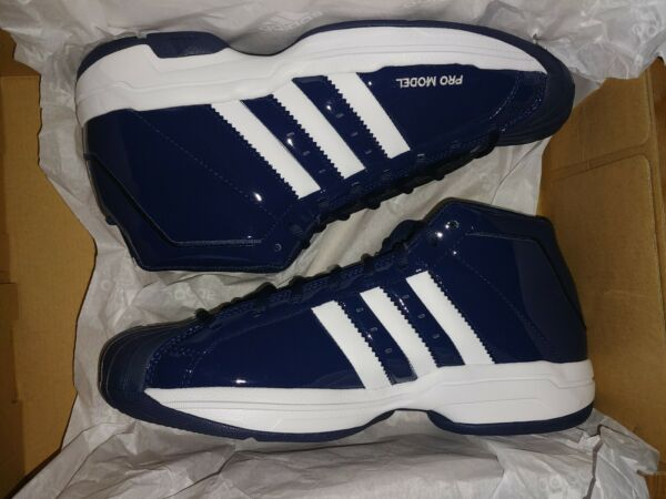 adidas SM Pro Model 2G Basketball Shoes Collegiate Navy/White Sz 10.5 FV7054