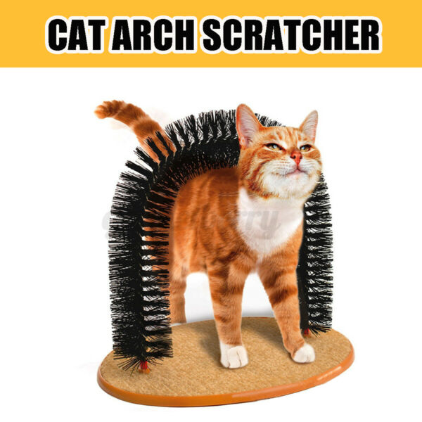 Cat Scratcher Arch Post Scratching Toy Scratch Grooming Furniture Funny For Pets $20.79