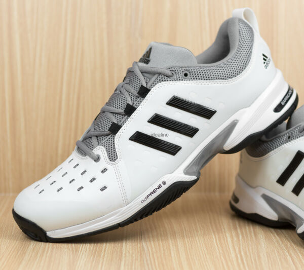 Adidas Barricade Classic Tennis Shoes White Wide 4E BY2920 Men's size 12
