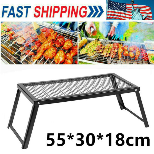 55*30*18cm Lixada Camping Grill Grate Cooking Outdoor Stove BBQ Open Fire Gift