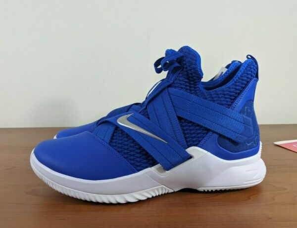 Nike Lebron Soldier XII TB Men's Sneakers Game Royal Blue At3872 401 Size 10.5