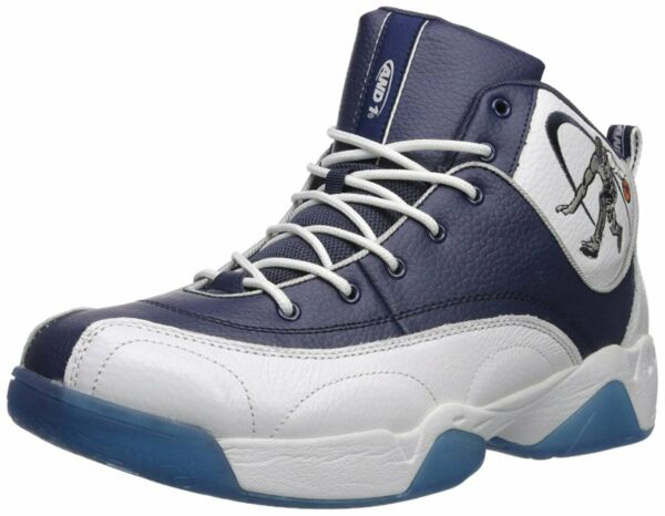 AND1 Men's Coney Island Classic Basketball Shoe Navy/Royal Blue/White
