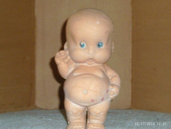vintage 7 in. Seiberling Latex Production Rubber doll marked BALDY $9.99