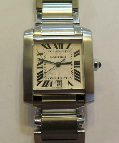 Cartier Tank Francaise 2302 Automatic Stainless Steel Large Size 28mm $2,695.00