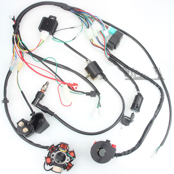 Electric Wiring Harness Set CDI Stator Kit for 50CC 70CC 90CC 110CC ATV GO KART $49.89