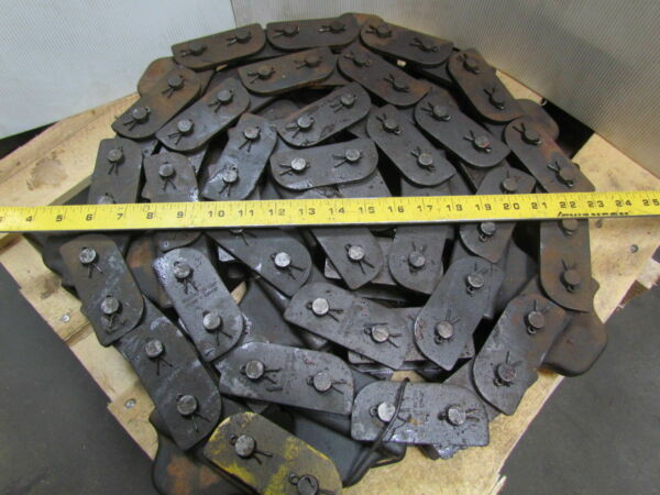 Jervis B Webb 10ft Caterpillar 2quot; Pitch Cotter Roller Chain Dia w Dog attachment $999.99