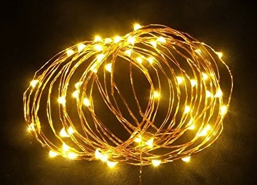 5 Pack 33ft Warm White LED Battery Operated fairy decorative lights