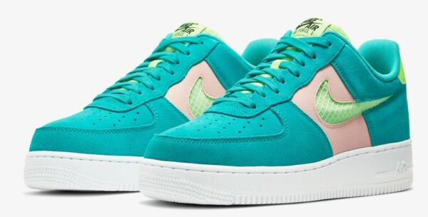 Nike Air Force 1 Low Sneakers Men's Lifestyle Comfy Shoes Oracle Aqua Green